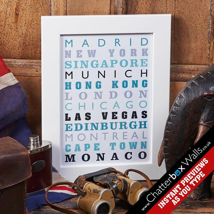 Personalised special places framed print