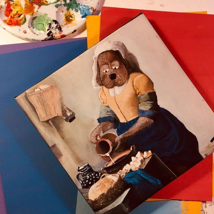 Thais van der Heyden maakte deze geweldige eigen versie van het 'melkmeisje' van Johannes Vermeer. En...jij kan deze winnen! #selfiekunst