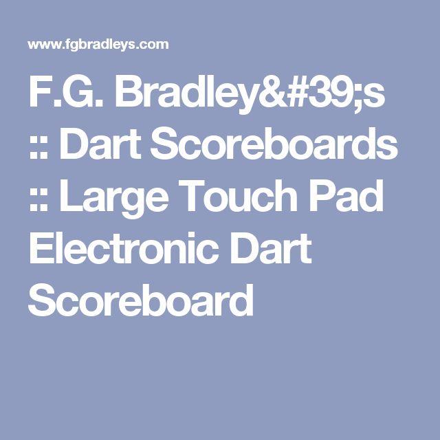 F.G. Bradley's  :: Dart Scoreboards :: Large Touch Pad Electronic Dart Scoreboard