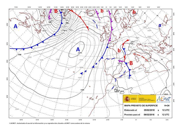 Fenómenos significativos Nevadas en amplias zonas del norte y nordeste de la Península. Predicción Precipitaciones en sistemas montañosos de la