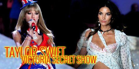 KapanLagi.com: Musik - Taylor Swift | [Foto] Taylor Swift, Elegan Di Tengah Model Seksi Victoria Secret