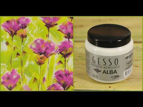 Como usar Gesso - Pintar Cuadros - Claudia Kunze - YouTube