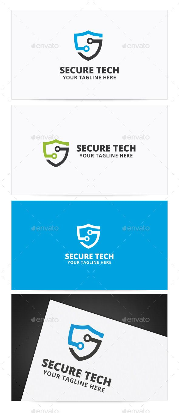 Secure Tech Logo — Photoshop PSD #server #security • Available here → https://graphicriver.net/item/secure-tech-logo/9013054?ref=pxcr