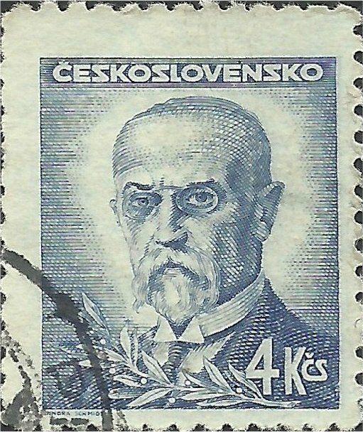 Znaczek: Tomáš Garrigue Masaryk (1850-1937), president (Czechosłowacja) (Portraits) Mi:CS 470,Sn:CS 297A,Yt:CS 412,AFA:CS 326,POF:CS 423