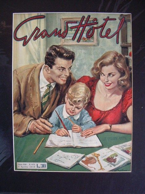Le prime aste- Cover vintage di Grand Hotel