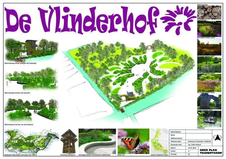Eerste concept/voorstel voor de Vlindertuin in Leidsche Rijn