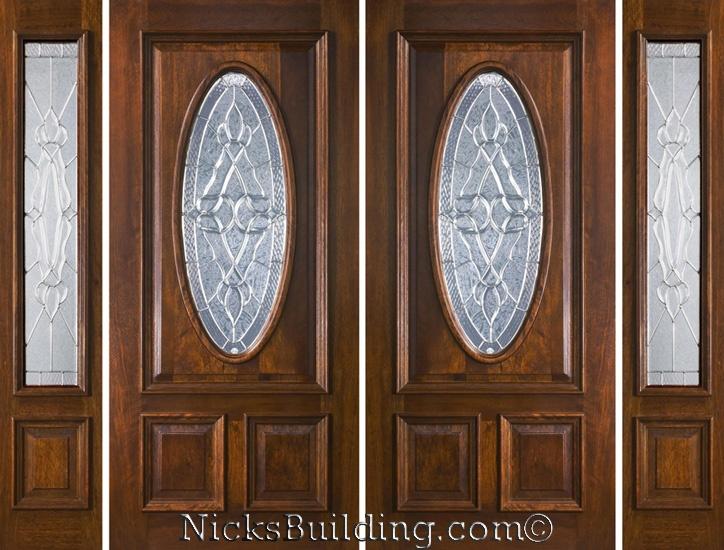 exterior double doors with sidelights solid mahogany doors