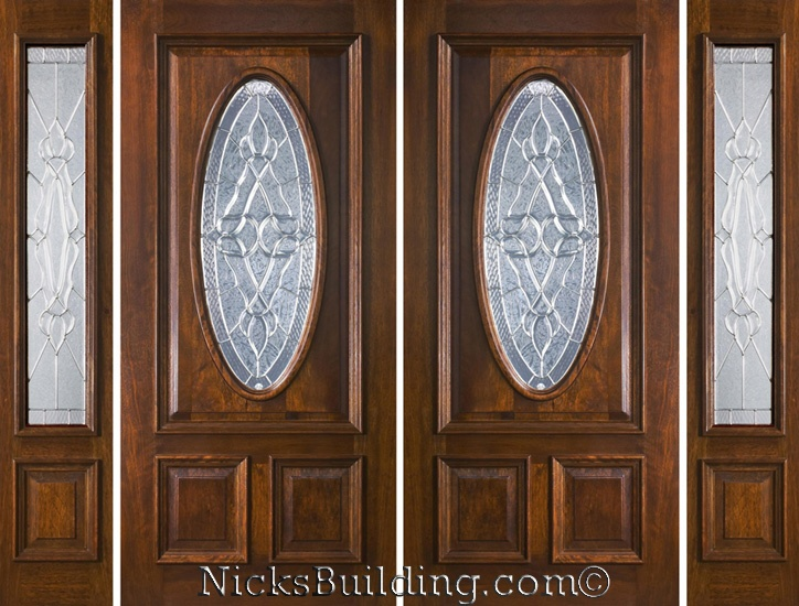 17 best images about mahogany doors on pinterest shaker style entry doors and entry chandelier - Double front entry doors with sidelights ...