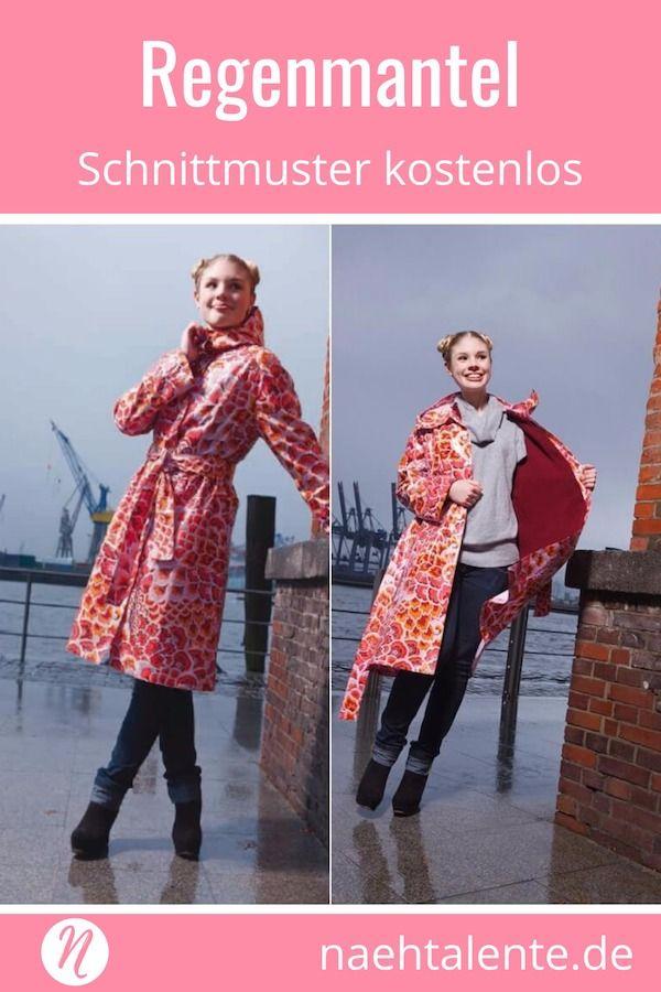Regenmantel mit Strickfutter | Oberteile nähen | Pinterest | Nähen ...