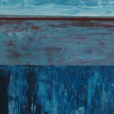 Sally Reynolds, abstract landscape on paper. $150 mounted & wrapped