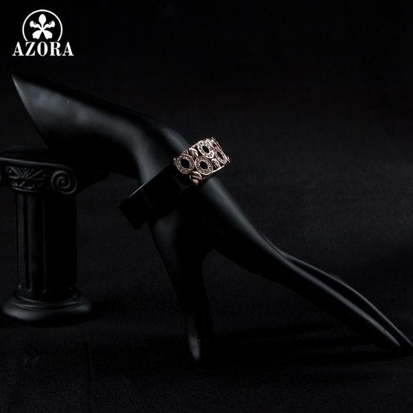 Azora черный прекрасный круглый розовое золото цвет stellux австрийский хрусталь браслет tb0030купить в магазине azora Official StoreнаAliExpress