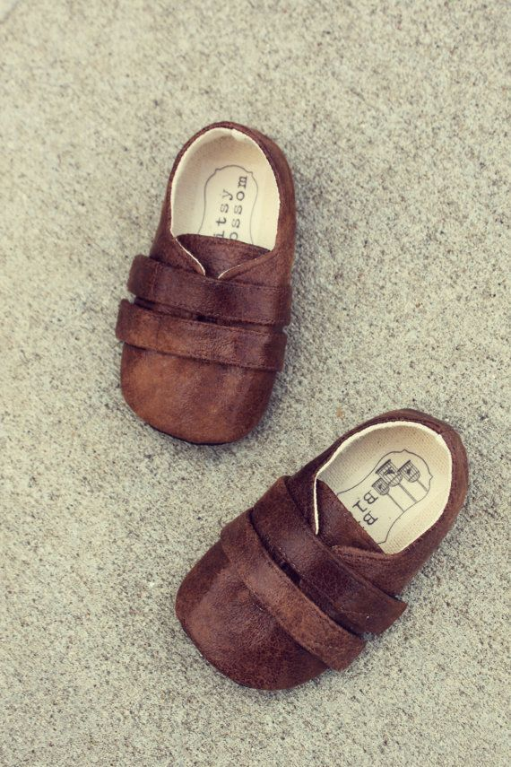 Baby Boy Shoes Infant Boy Shoes Soft Soled   Shoes by BitsyBlossom