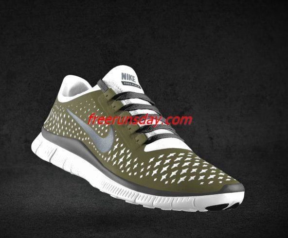Wholesale Mens Nike Free 3.0 V4 Light Bone Reflect Silver Iguana Black Lace Shoes