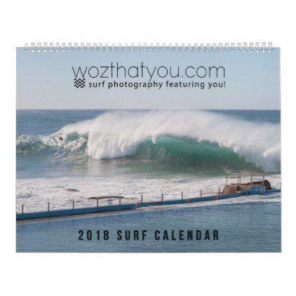 Large wozthatyou.com 2018 surf calendar - photography gifts diy custom unique special