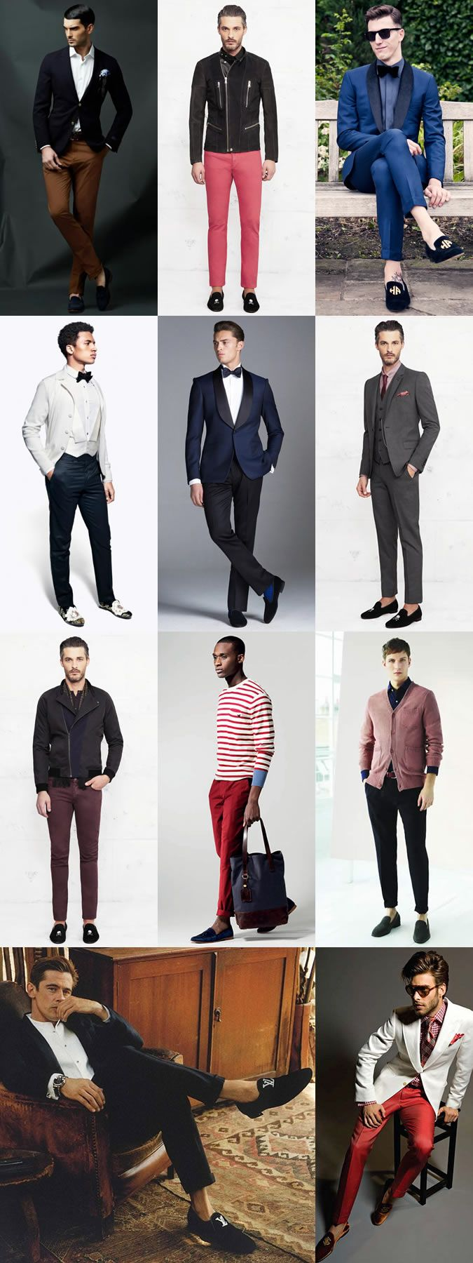 With this in mind, let's breakdown how you can wear dress slippers in a variety of modern ways.