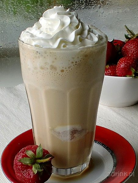 Frozen Choco-Latte  Ingredients:    scoop of chocolate ice cream  2 teaspoons instant coffee  3/4 cup milk  6 ice cubes  whipped cream for decoration  blender!!