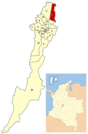 Usaquen ~ Bogata Columbia ~ Location of the locality within Bogotá