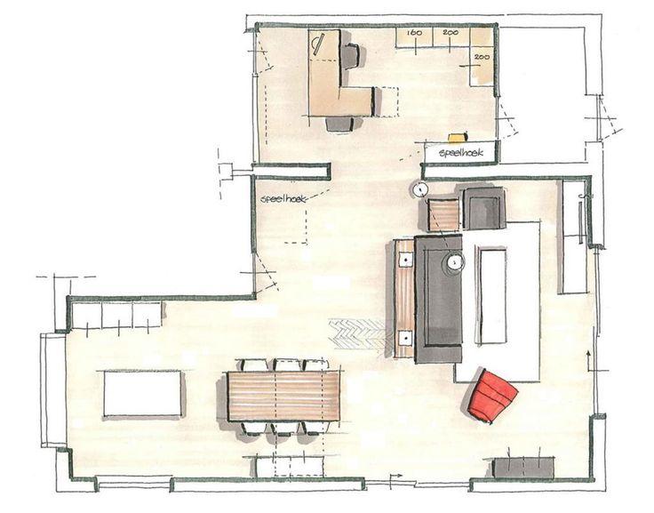 25 beste idee n over u vormige huizen op pinterest for Z vormige woonkamer inrichten