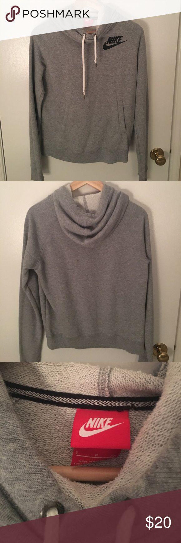Grey Nike  Hoodie Long neck, Nike hoodie, Nike logo, roll neck/high neck Nike Tops Sweatshirts & Hoodies