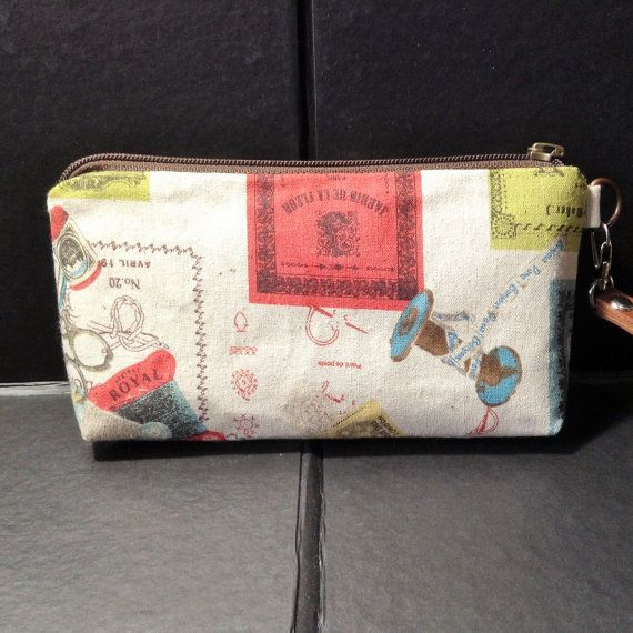 zip pouch sewing bobbin cosmetic pouch gadget by KatunKatunBags