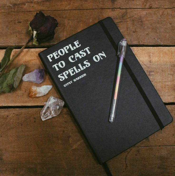 "Our item of the week! FOLLOW us & REPIN this photo and one winner will be selected to WIN our ""People To Cast Spells On Notebook""! Winner will be contacted on Pinterest Monday 12/28 #gypsywarrior"