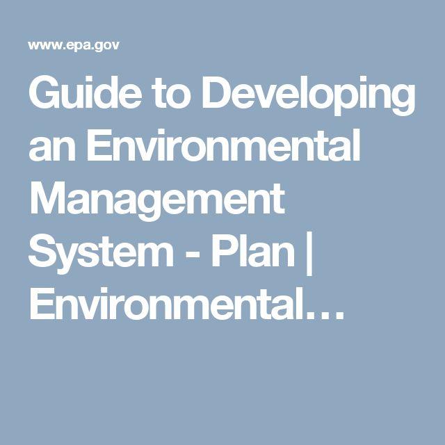 Guide to Developing an Environmental Management System - Plan | Environmental…