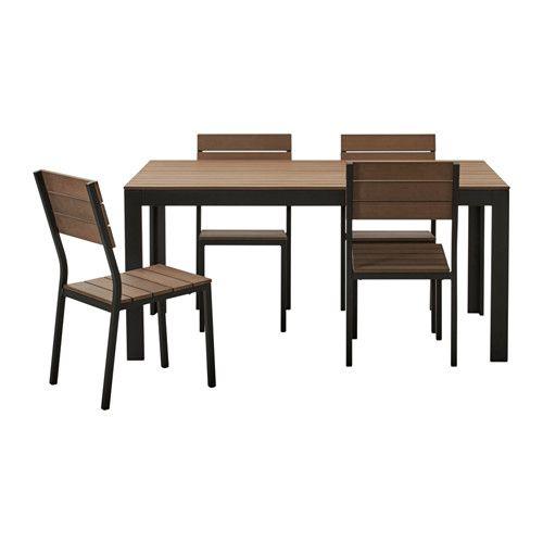 IKEA   FALSTER, Stühle/außen, Schwarz/braun , Die Streben Aus Polystyrol  Sind Witterungsbeständig Und Pflegeleicht.Das Möbel Ist Stabil Und Leicht  Durch Den ...