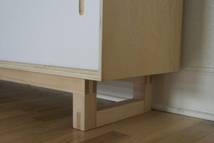Credenza-maple, plywood and melamine