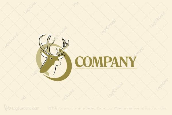 Logo for sale: Buck Horns Logo