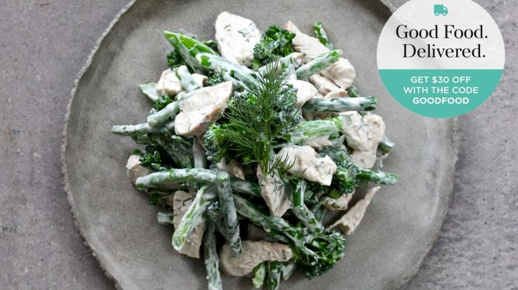 The Cook's Grocer yoghurt dill chicken with green vegetables