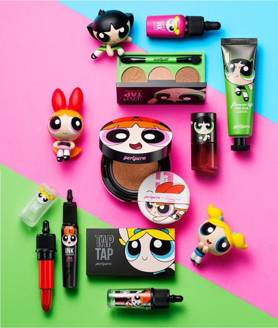 Powerpuff Girls makeup collection from Korean brand Peripera - Just waiting for these to be made available in Japan!