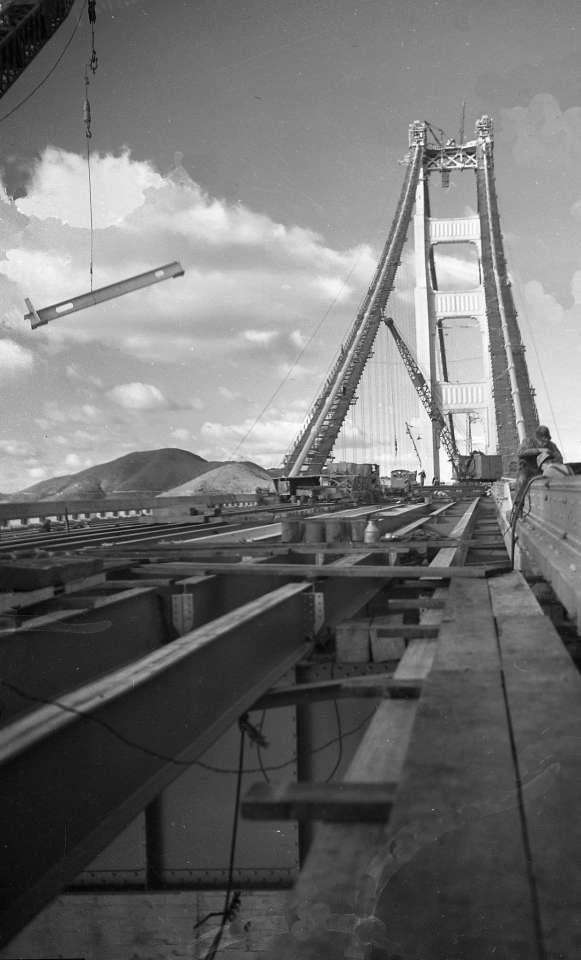 1930s Golden Gate Bridge construction photos rescued from ruin San