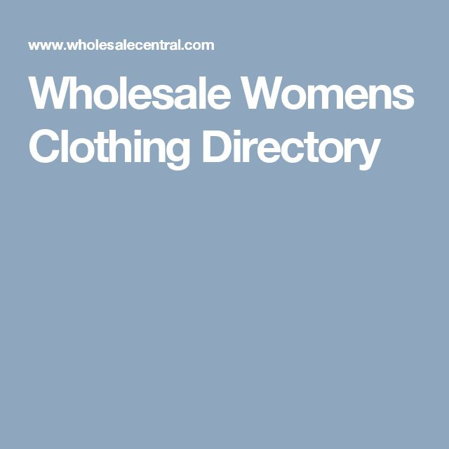 Wholesale Womens Clothing Directory