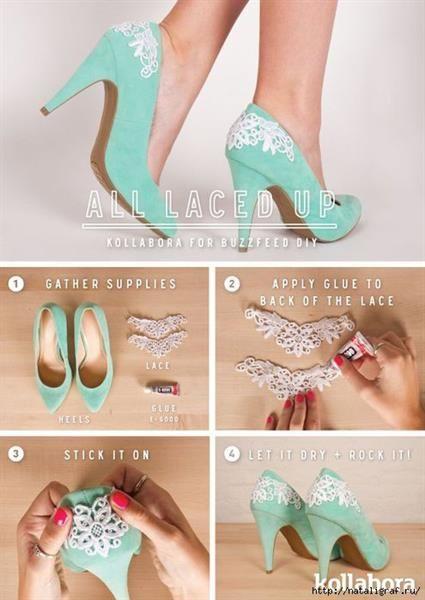 Как самим украсить свадебные туфли