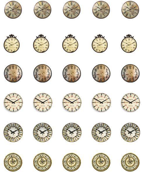 """1"""" clock faces"""