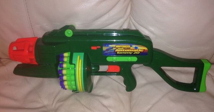 Buzz Bee Toys Air Blasters Motorized Automatic Tommy 20 | eBay