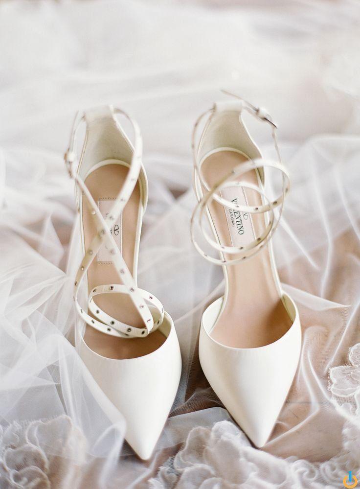 Valentino Wedding Shoes For A Stylish Destination Wedding Christine Donee Brideshoeswedding Wedding Shoes Heels Valentino Wedding Shoes Bride Shoes