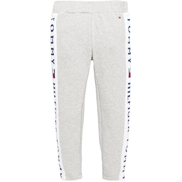 Tommy Hilfiger Girls Tommy Logo Legging (£34) ❤ liked on Polyvore featuring pants, leggings, tommy hilfiger, tommy hilfiger trousers, white trousers, white pants and legging pants