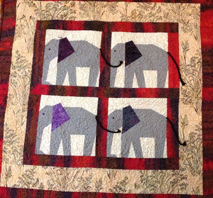 Elephant cot quilt