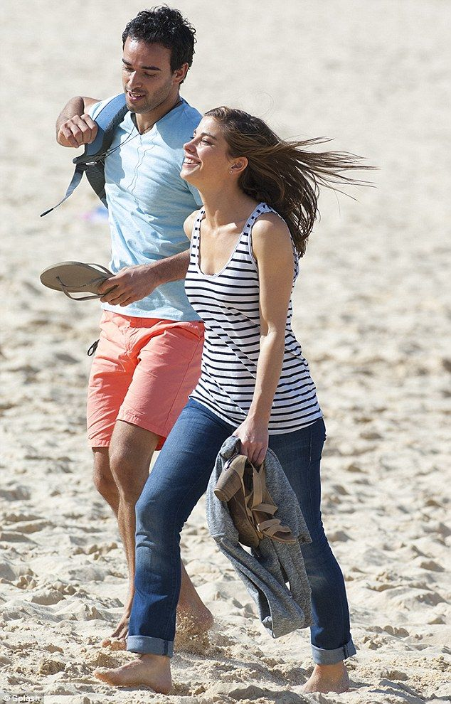 http://news-all-the-time.com/2014/05/14/brooke-satchwell-films-cute-couple-scene-with-onscreen-boyfriend-glenn-mcmillan-at-the-beach-for-second-season-of-australian-drama/ - Brooke Satchwell films cute couple scene with onscreen boyfriend Glenn McMillan at the beach for second season of Australian drama  - By Alicia Vrajlal  Their unexpected romance took off straight after the series' premiere. And it looks like Brooke Satchwell and Glenn McMillan's characters are still l