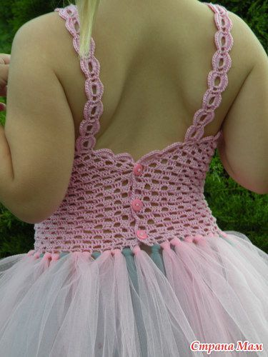 Связать Топ-труба для пышных юбочек TUTU + видео как делать платье туту - Вязание для детей - Страна Мам