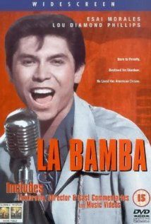 """La Bamba"" (1987). Biographical story of the rise from nowhere of singer Ritchie Valens (Lou Diamond Phillips) whose life was cut short by a plane crash."