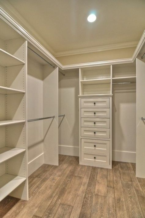 Bedroom closet organizing