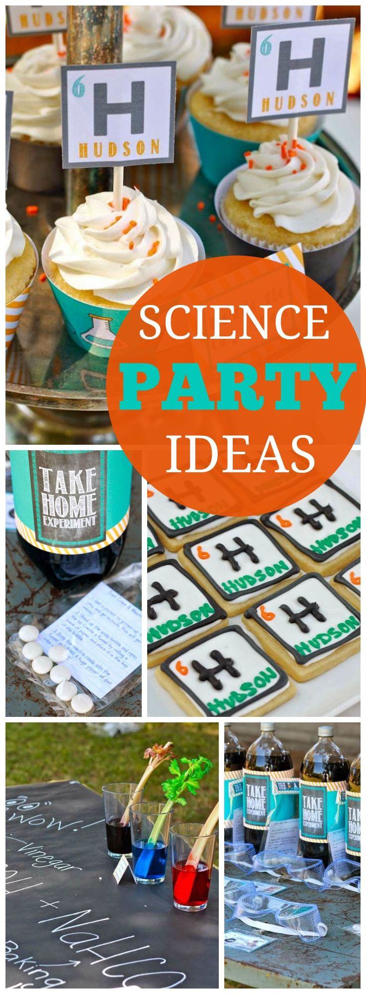 Lots of cool experiments at this science birthday party! See more party ideas at CatchMyParty.com!