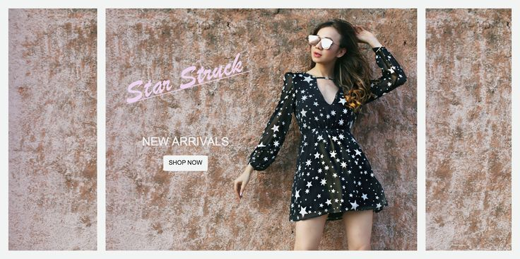 We are star struck by this prettiest stars print #dress. The all #American #stars are a big #trend this #season and we have it covered for you. Elastic at waist and at sleeves. Looks great when paired with #booties and messy hair. #Shine away!http://www.mariposalove.com/collections/newarrivals/products/star-struck-dress