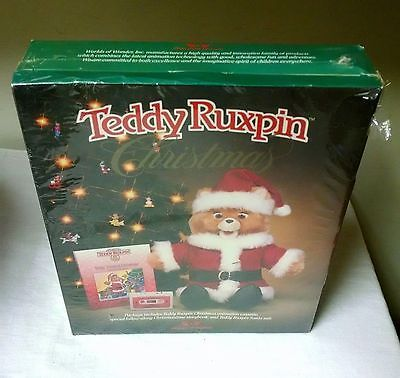 WOW Worlds of Wonder Teddy Ruxpin Christmas Santa Outfit & Book/ Tape NEW SEALED