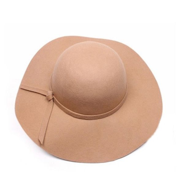 Vintage Women Wide Brim Wool Bowler Fedora Hat Item Type: Sun Hats Pattern Type: Solid Department Name: Adult Style: Casual Gender: Women Material: Cotton