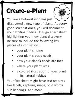 This is the actual pin of what I am doing for the plant unit for 3rd grade. It is originally for 2nd, but I am changing it up a bit to meet my learning outcome/goals for 3rd