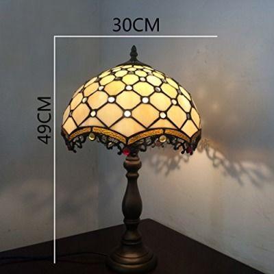 Europäische kreative Glas-Tischlampe Schlafzimmer Nachttischlampe Hotel der gehobenen Klasse Schlafzimmerlampe Hochzeit ( Base : Alloy Base )