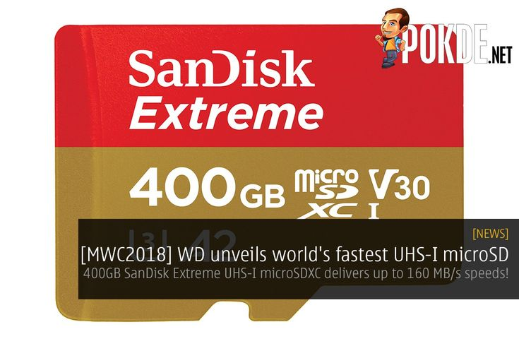 Western Digital unveiled their fastest UHS-I microSD card yet. The 400GB SanDisk Extreme UHS-I microSDXC is based on 3D NAND flash for fast and high density storage designed for the most demanding applications.   Share this:   Facebook Twitter Google Tumblr LinkedIn Reddit Pinterest Pocket WhatsApp Telegram Skype Email Print